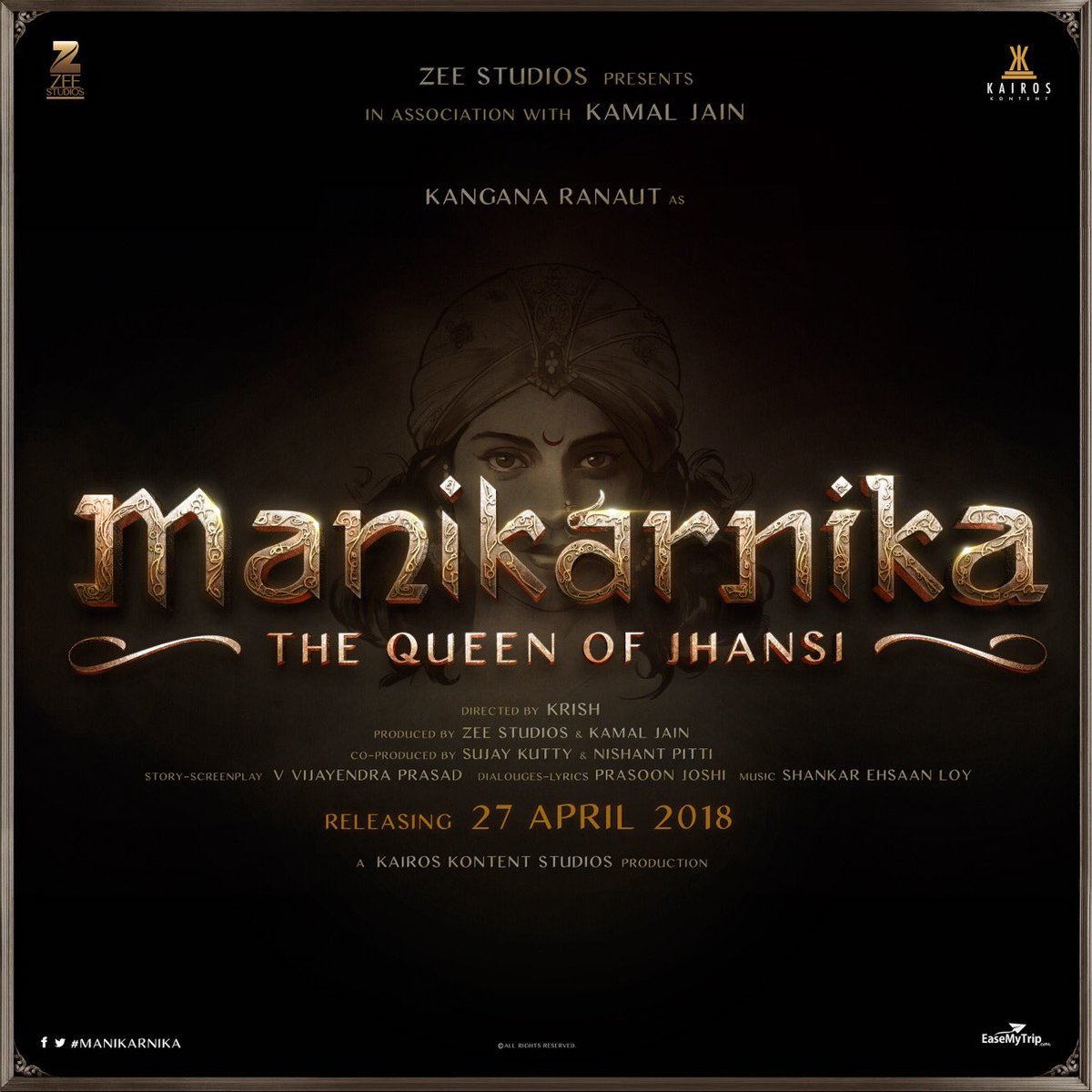 Poster Photos Photos Kangana Ranaut Launches Manikarnika Poster In