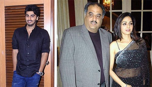 Sridevi,Boney Kapoor and Arjun Kapoor