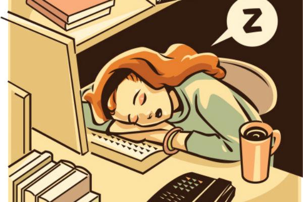 The Struggle to Stay Awake at Work - Bolojawan