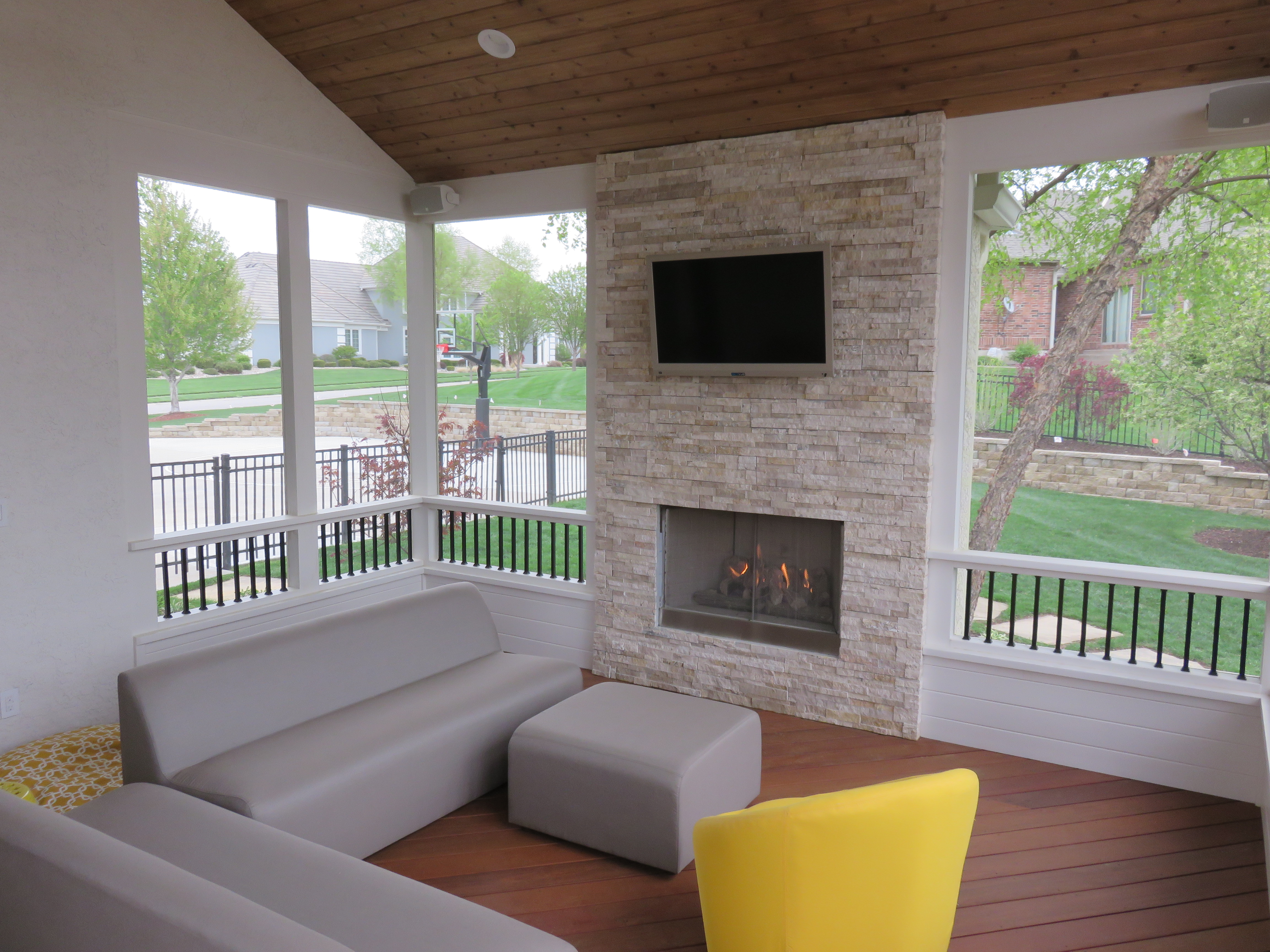 Outdoor Fireplace Electric Outdoor Fireplace For Your Porch Or Deck