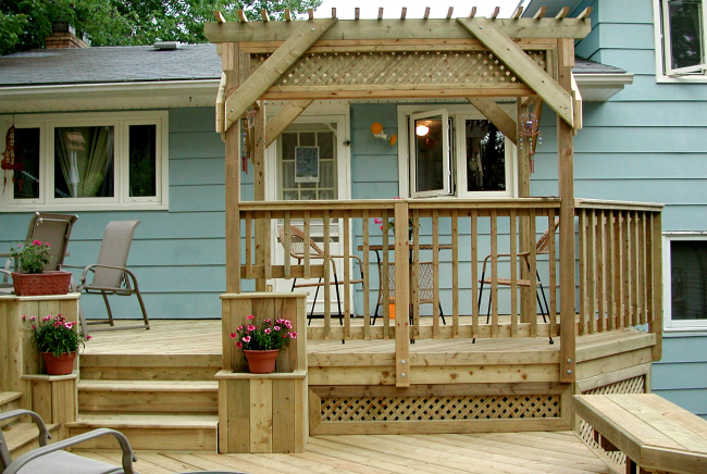 Houzz Advertising Multilevel Pressure Treated Deck, Halifax | Archadeck