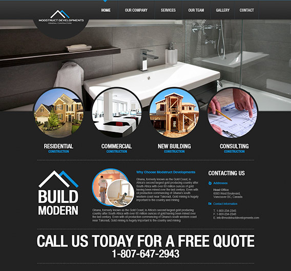 Construction website examples