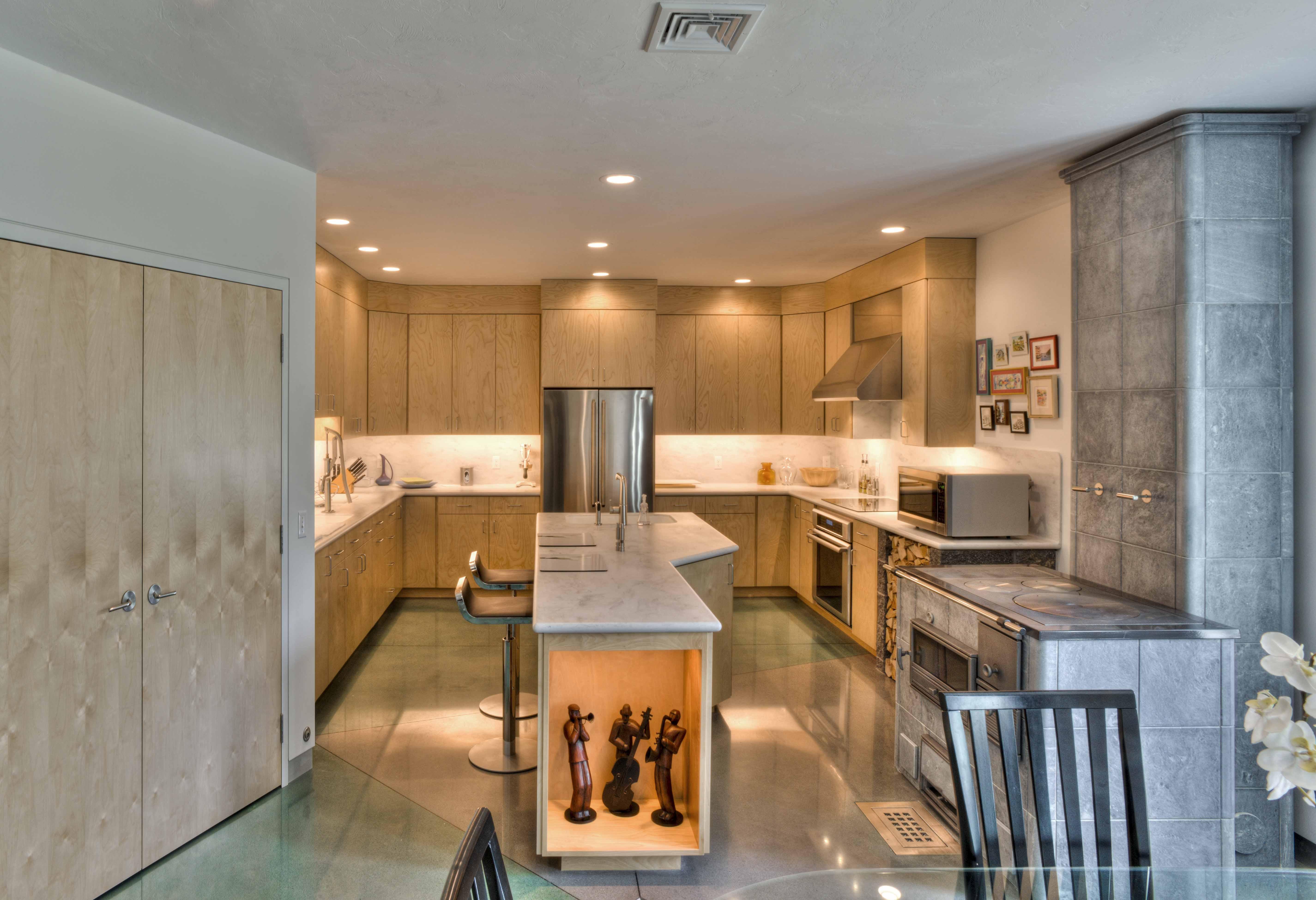 polished concrete concrete floor kitchen Dyed Polished Concrete Kitchen Polished Concrete Floor