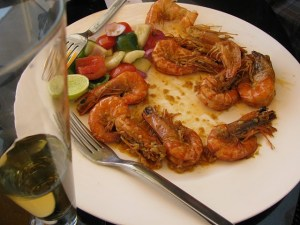 Prawn in butter garlic sauce - pretty close to heaven
