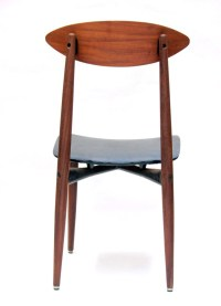Sixties scandinavian wood and metal chair