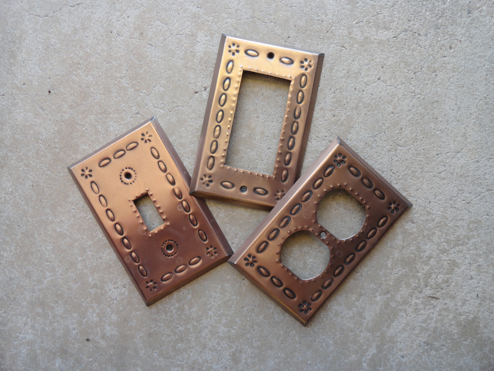 Copper Light Switch Plates Oxidized Copper Single Switch Plate Outlet Rocker Light