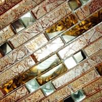 Retro Golden - 3-Dimensional Mosaic Decorative Wall Tile ...