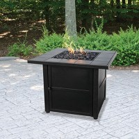 Outdoor Firepit Ceramic Tile Propane Gas Fireplace Patio ...