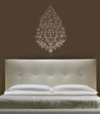 "WALL ART STENCIL LARGE PAISLEY 36"" EXOTIC INDIA ETHNIC ..."