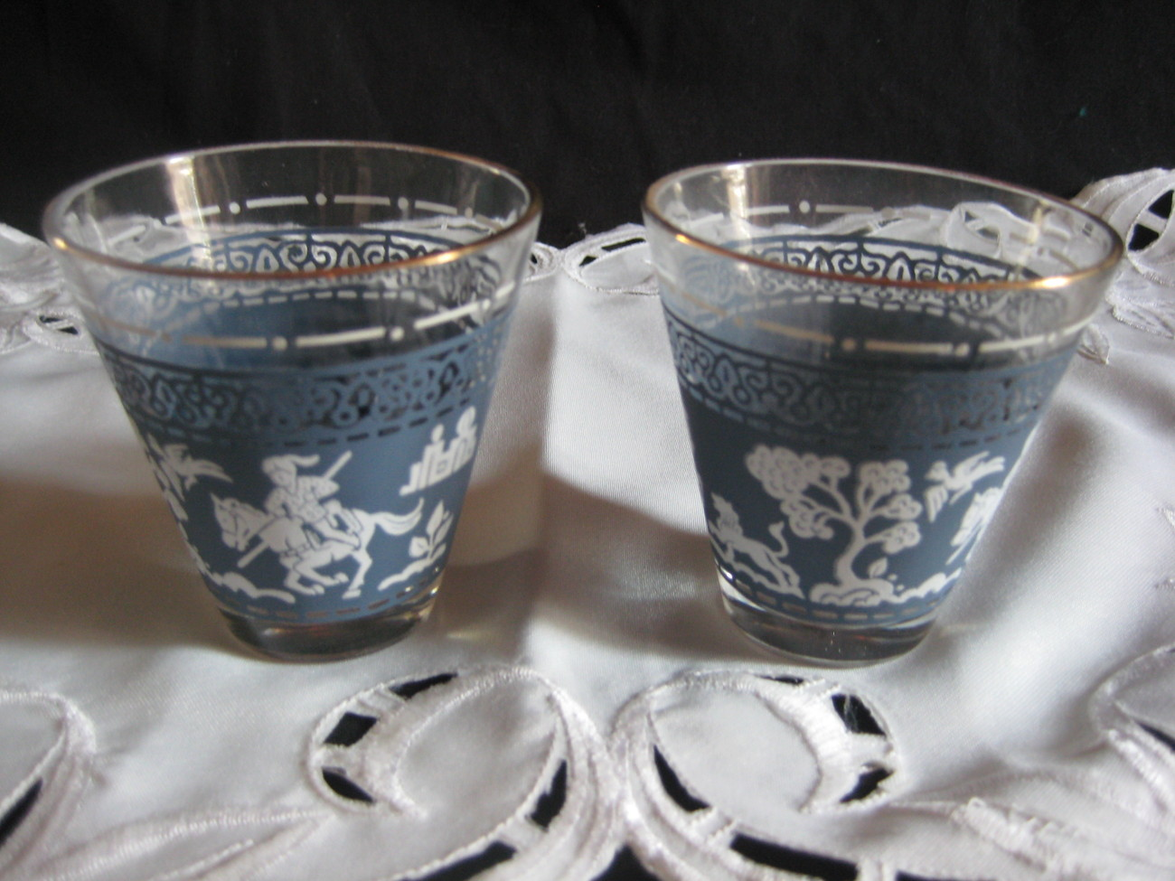 Drinking Glasses Designs Vintage Collectible Drinking Glasses Greek Design Pale