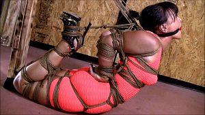 woman buried bondage
