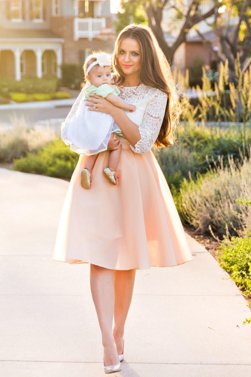 Ootd Lace Top Amp Peach Midi Skirt Bondgirlglam Com