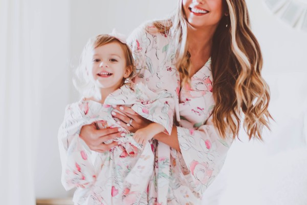 matching mommy and me robes, plum pretty sugar, mom and daughter