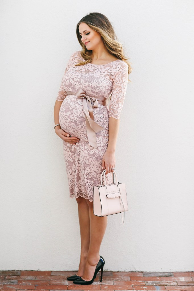 Stokke Stroller Red Bumpstyle Blush Pink Lace Maternity Dress