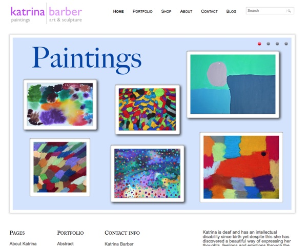 Katrina Barber Artist Portfolio Website Design Bondi Web Design