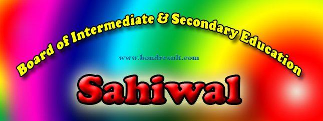 Online BISE Sahiwal Board FA FSc Result 2015