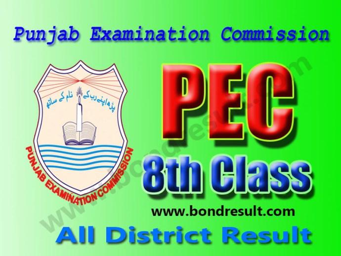 Punjab Examination Commission PEC 8th Class Result 2016