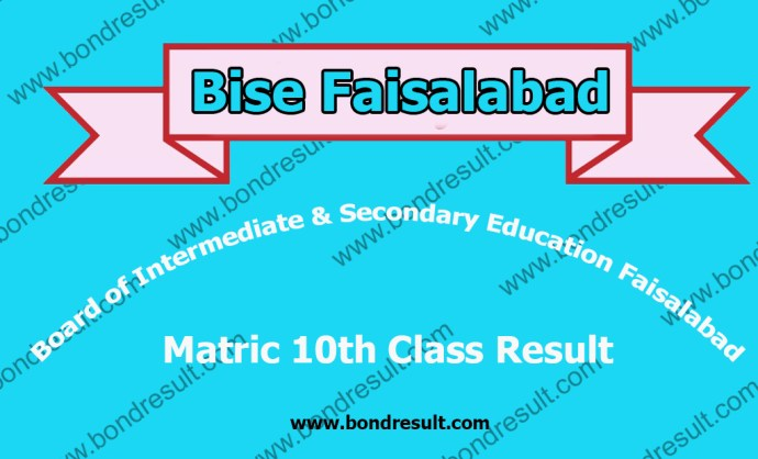 All BISE Faisalabad Board Matric 10th Class Result 2016