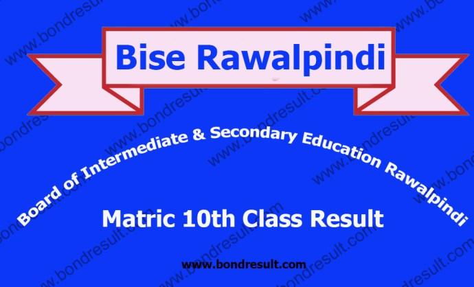 Online BISE Rawalpindi Board SSC Part 2 Result 2016 Matric