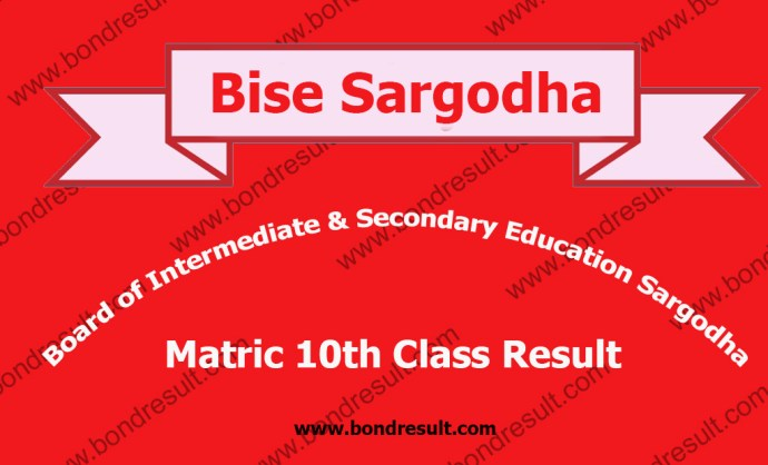 BISE Sargodha SSC Part 2 Result 2016 Matric 10th Class Result 2016