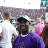 Keith Stokes, an exciting receiver for the Pirates in 1999-2000, was on hand for ECU's opener in American Athletic Conference play in 2016.