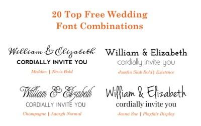 20 Popular Free Google Wedding Font Combinations | BonFX
