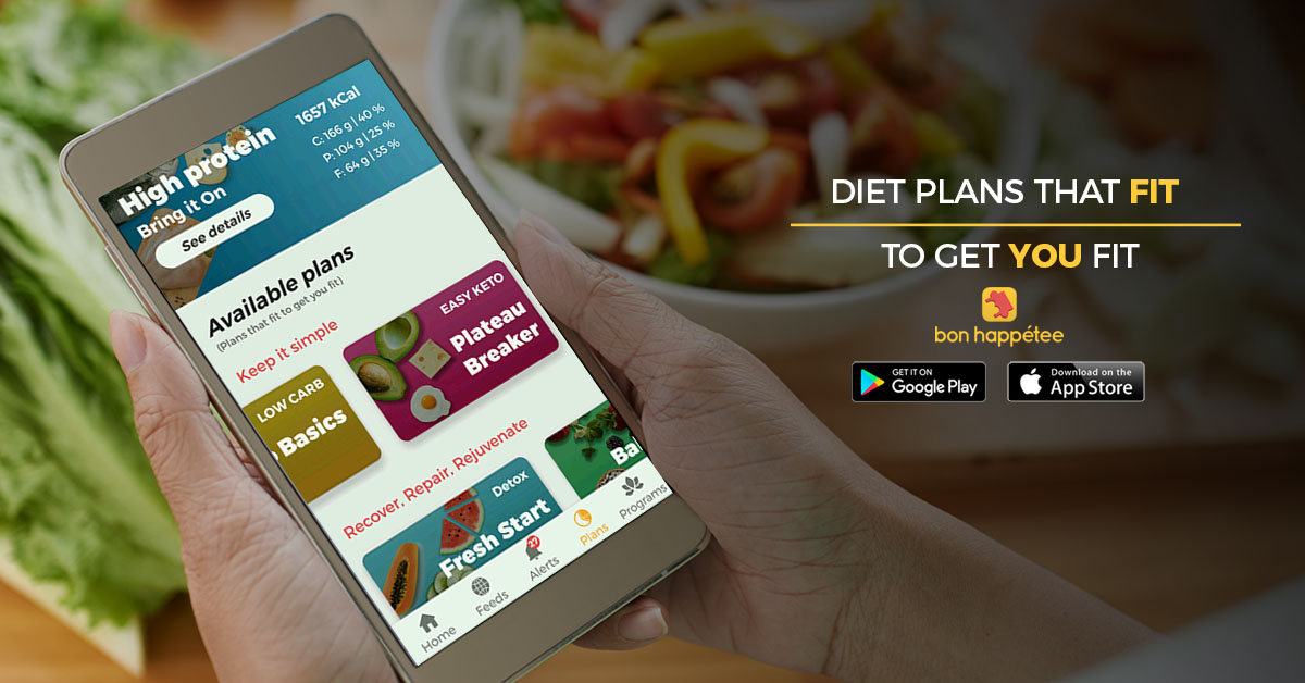 bon happetee best diet chart app for weight loss high protein diet