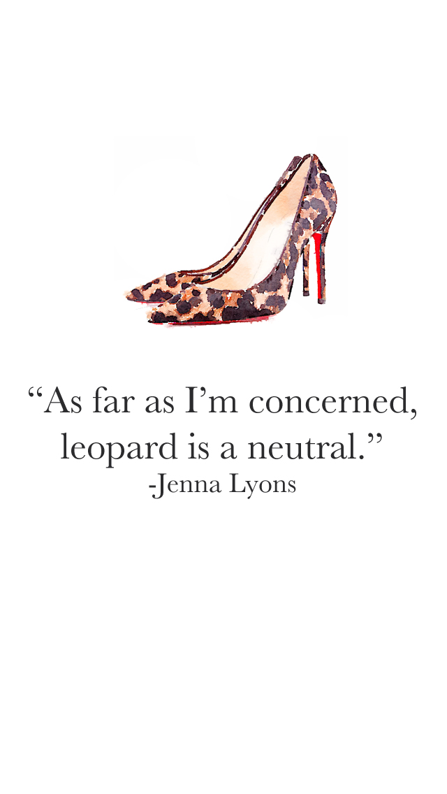Cute Quote Iphone 5 Wallpapers Leopard Is A Neutral Bonjour Blue
