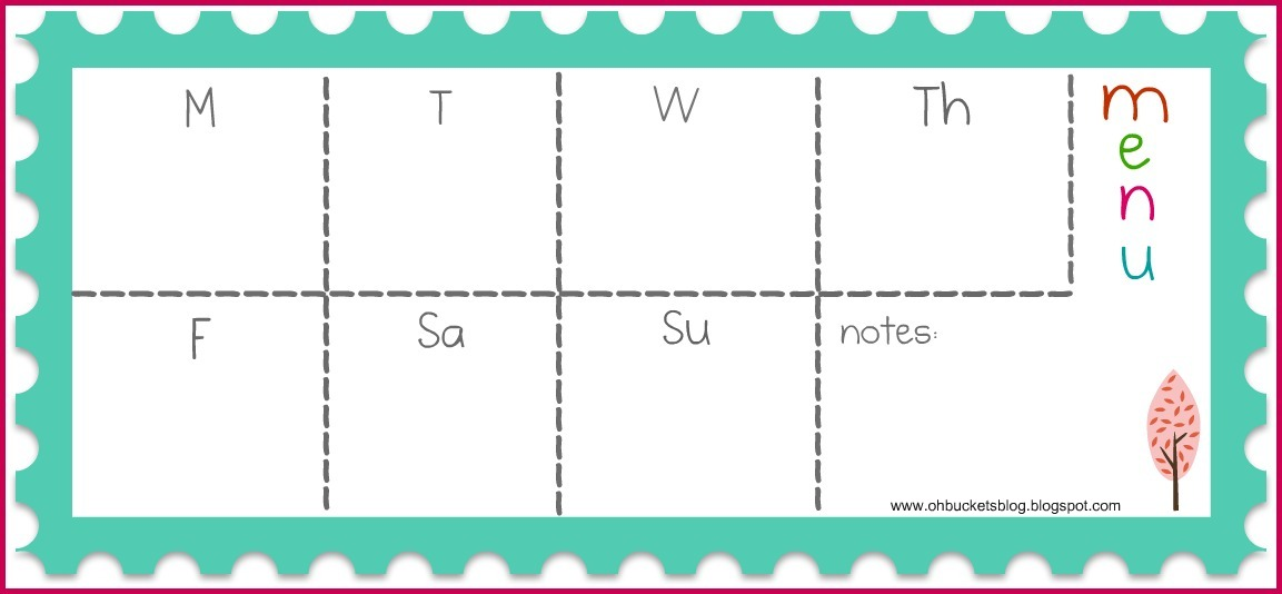 Menu Planning Template Word Image collections - Template Design Ideas - free weekly menu templates