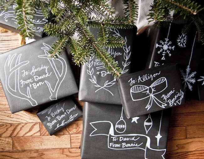 Tutorial Christmas 39chalkboard39 Gift Wrap Going Home To
