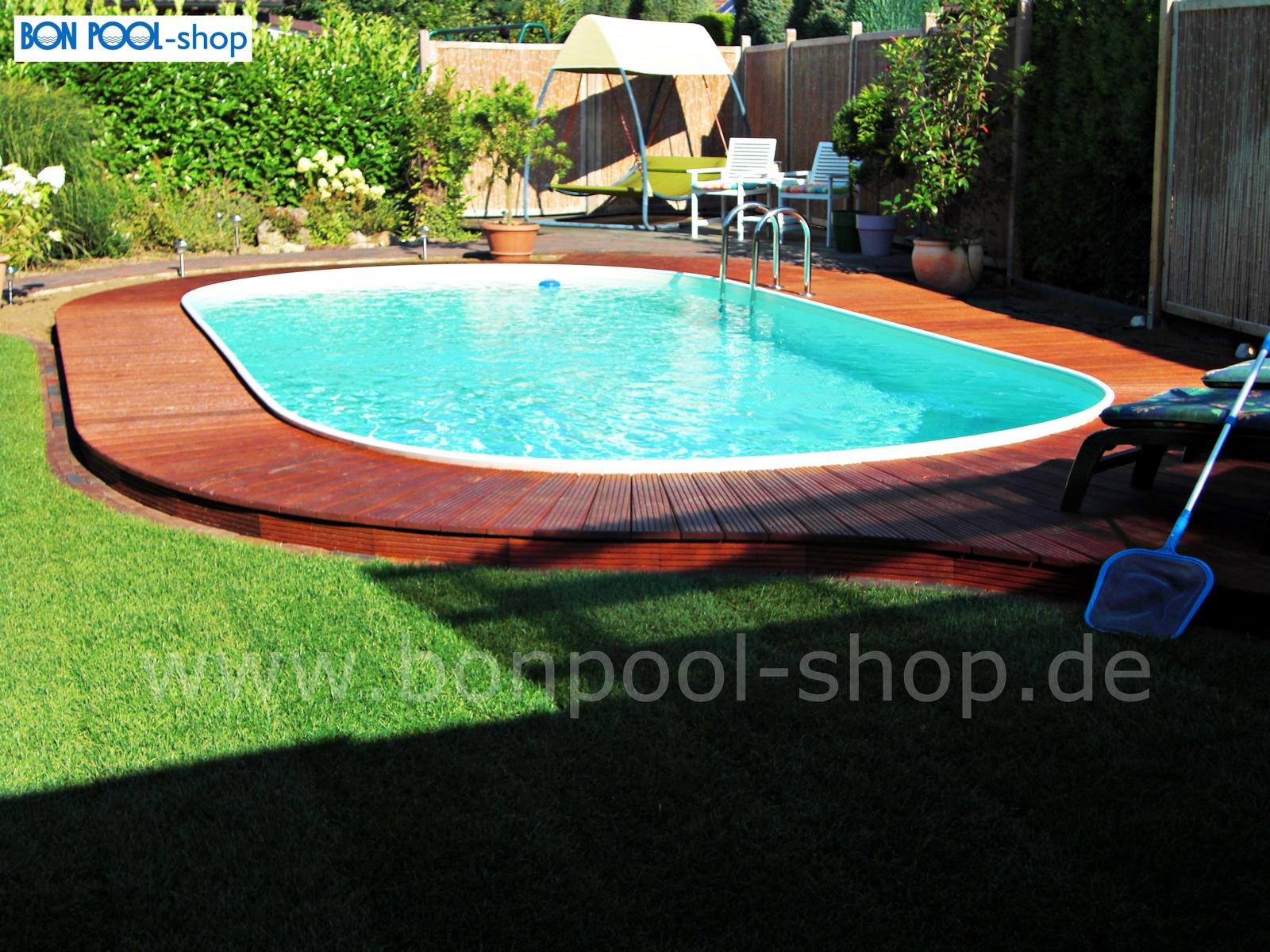 Pool Garten Tiefe Ovalbecken Set 737 X 360 Tiefe 150 Bon Pool
