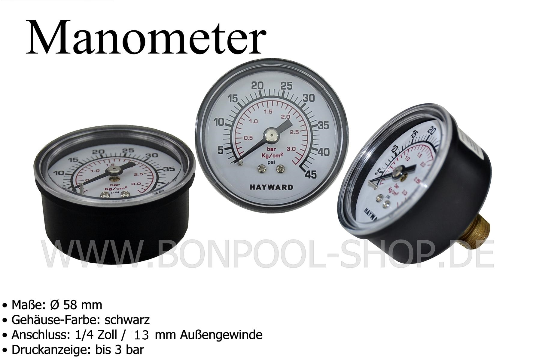 Poolheizung Rohr Bon Pool Manometer