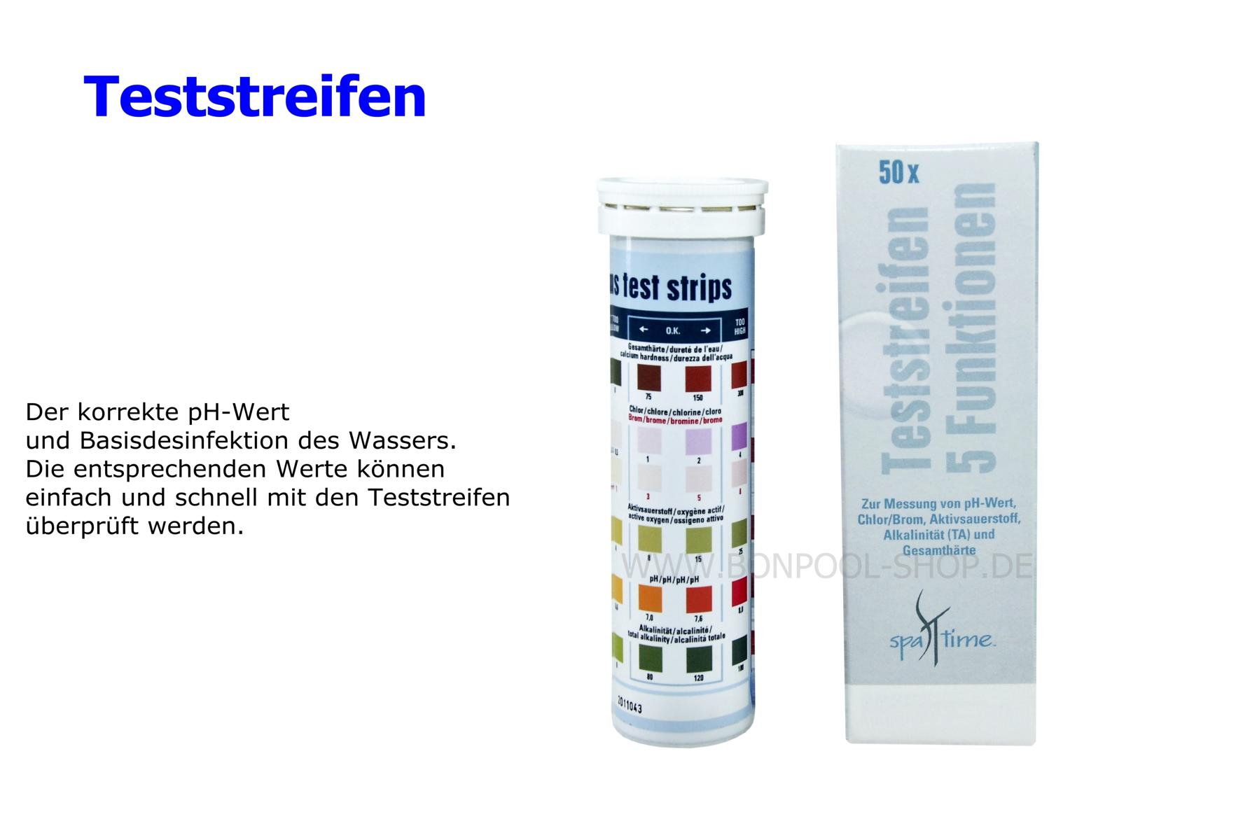 Poolheizung Test 50 Stk Teststreifen Ph Wert Chlor Brom Bon Pool
