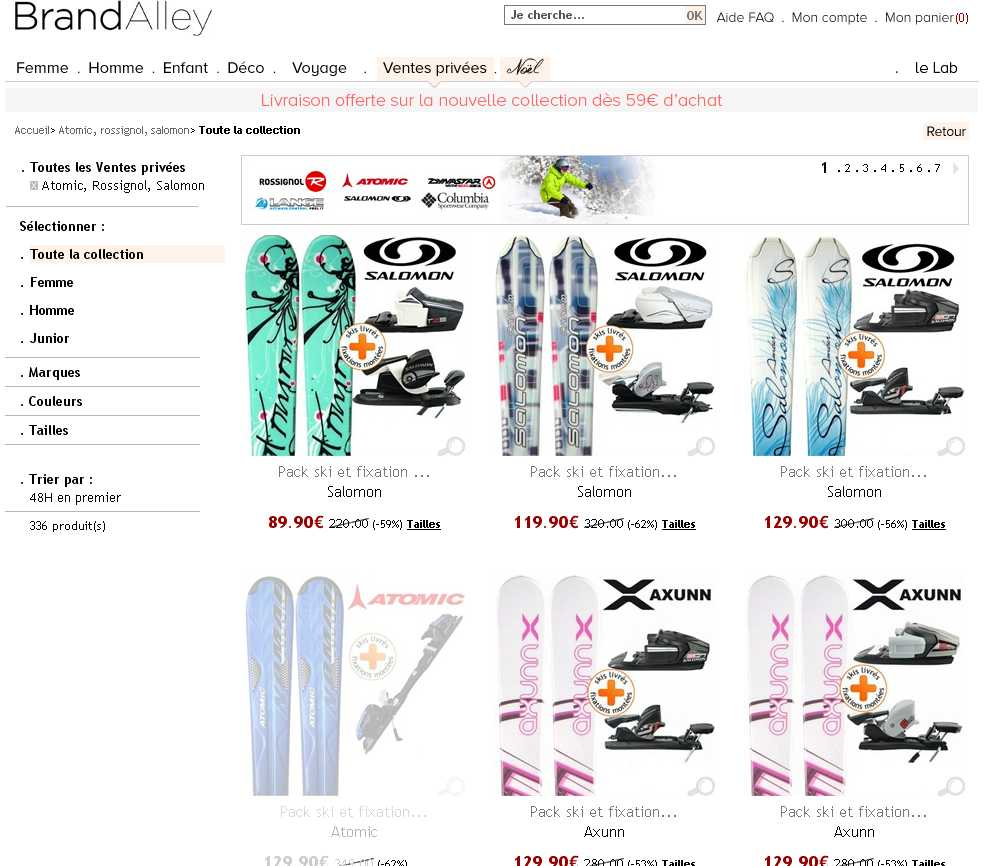 Equipements De Skis En Vente Privee