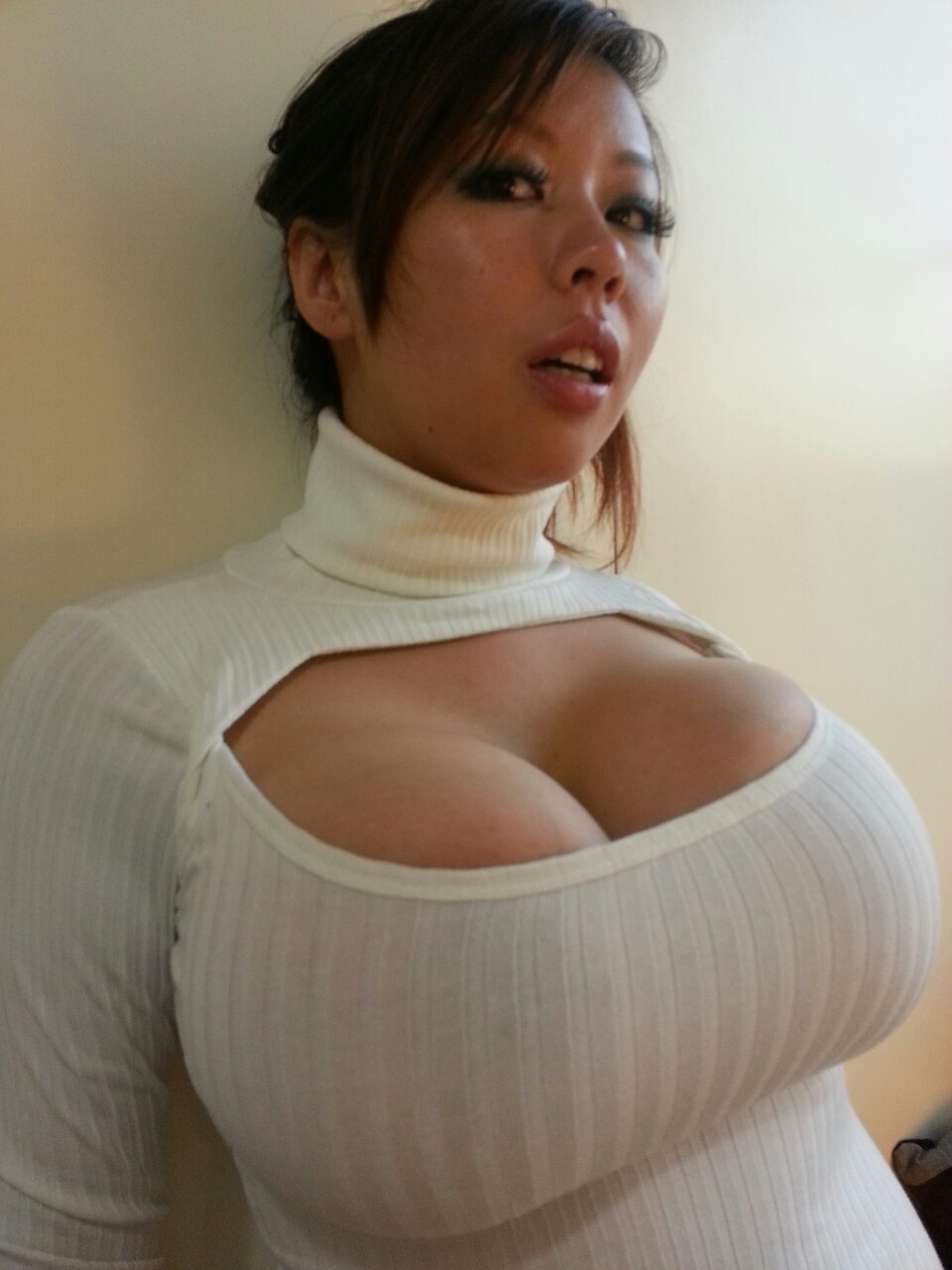 huge tits in a small shirt
