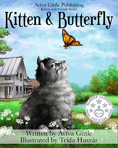 Kitten and Butterfly by Aviva Gittle