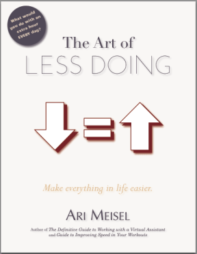 book editing and design: The Art of Less Doing
