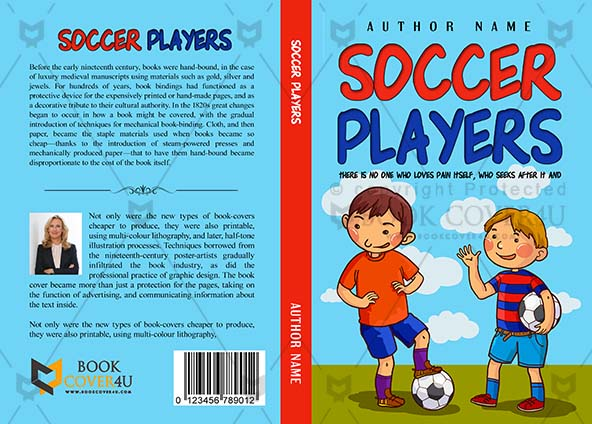Children Book cover Design - Soccer Players