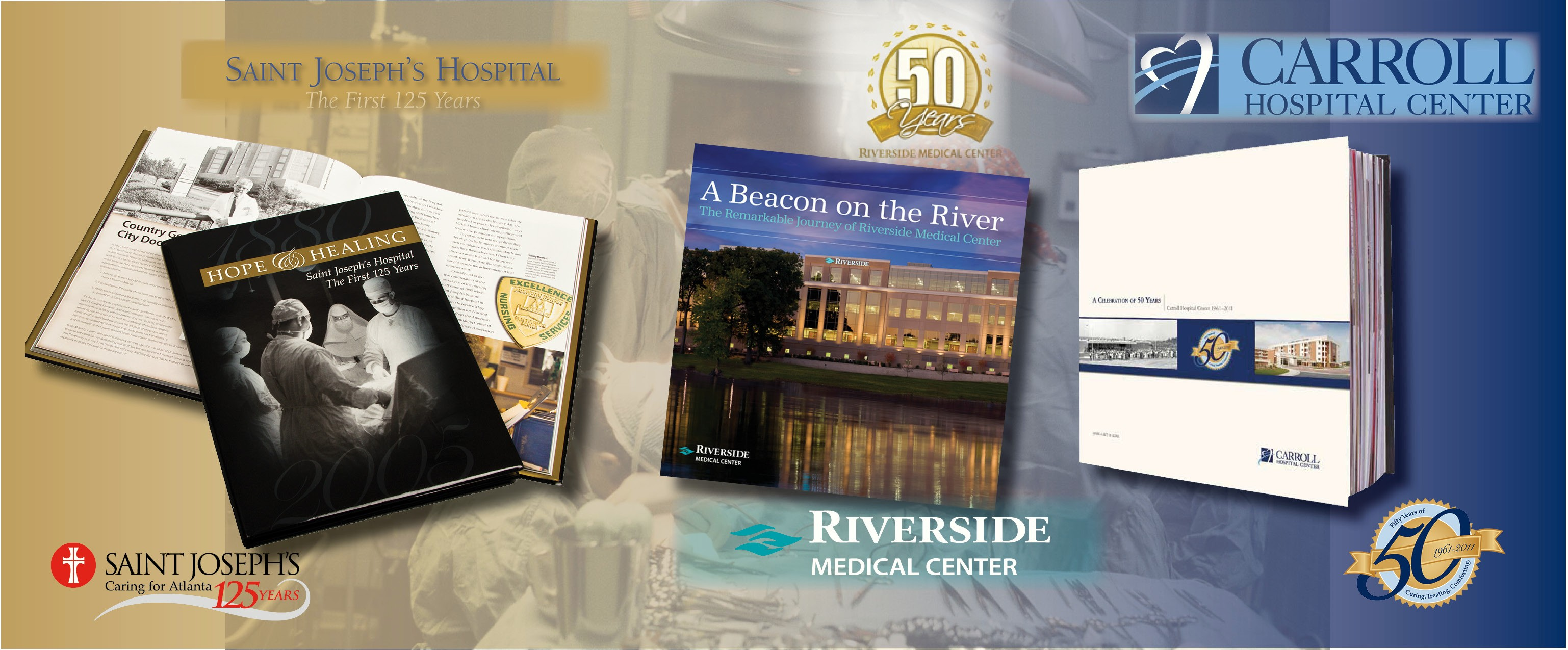 Hospitals choose Bookhouse Group, Inc. when they are commemorating an important anniversary