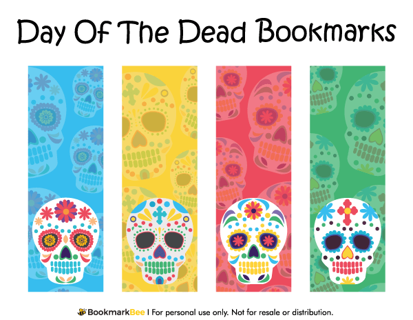 Cute Elephant Design Wallpaper Printable Day Of The Dead Bookmarks