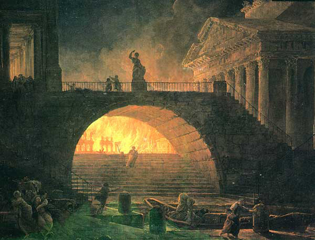 Cheminees Domus Great Fire Of Rome Book Of Days Tales