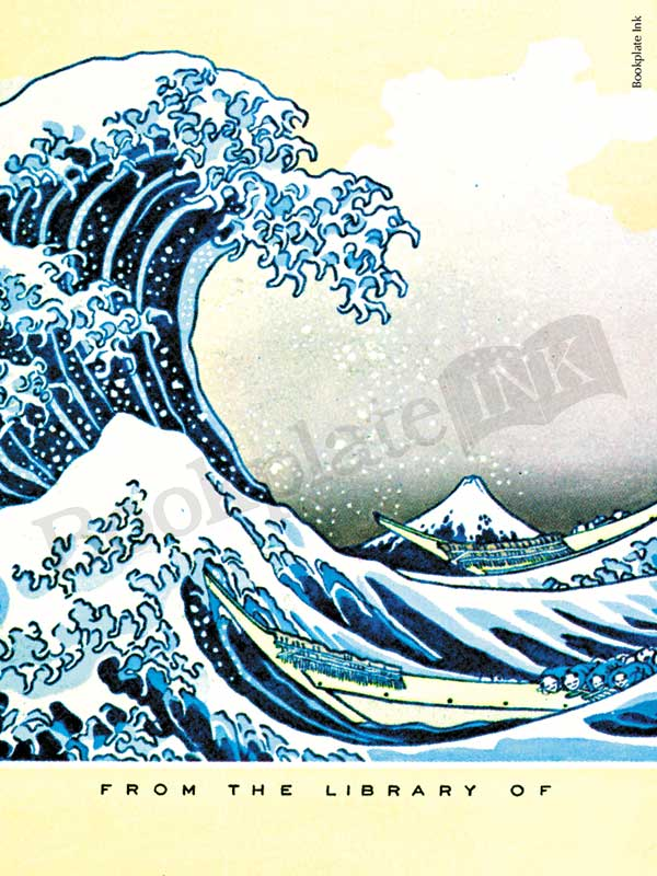Mount Fuji Wallpaper Iphone C114 Japanese Quot The Great Wave Off Kanagawa Quot Bookplate