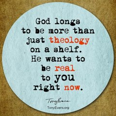 Tony Evans God Wants To Be Real To You Now