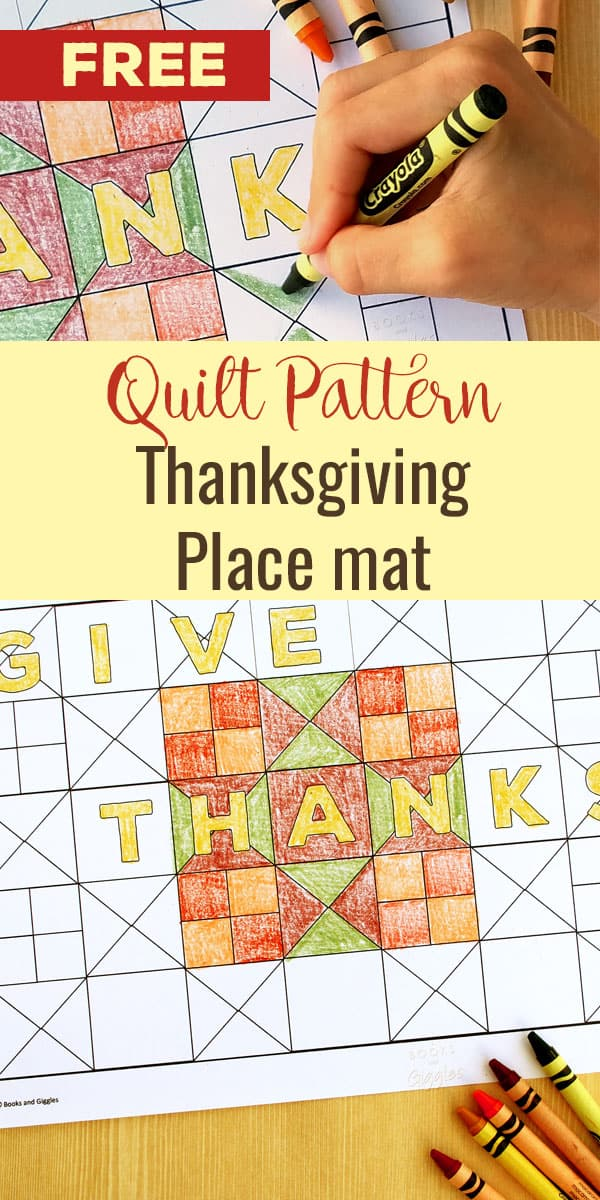 Story-Inspired Free Printable Thanksgiving Placemat