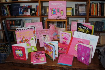 Pretty In Pink Display | Blue Heron Books in Uxbridge, Ontario, Canada