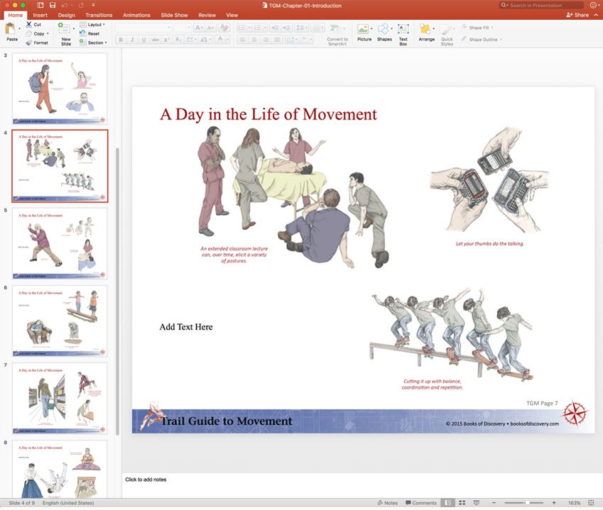 Trail Guide to Movement PowerPoint - Books of Discovery - Powerpoint Books