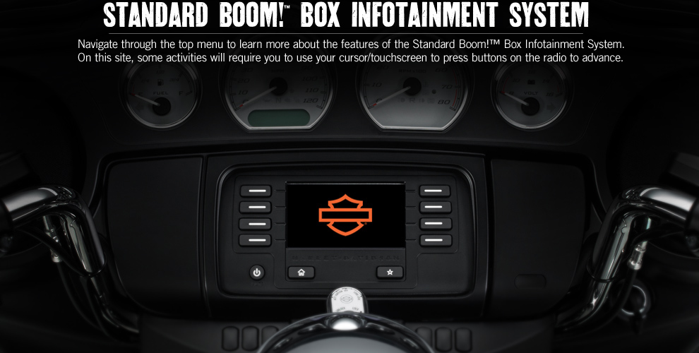 Box Bluetooth Boom!™ Box Online Reference Guide | Harley-davidson® Usa