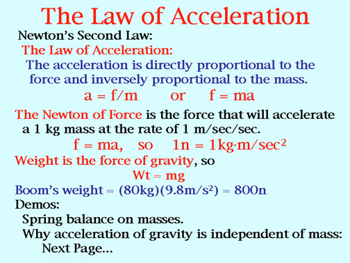 This image shows the different laws of acceleration discovered by - info sheet template