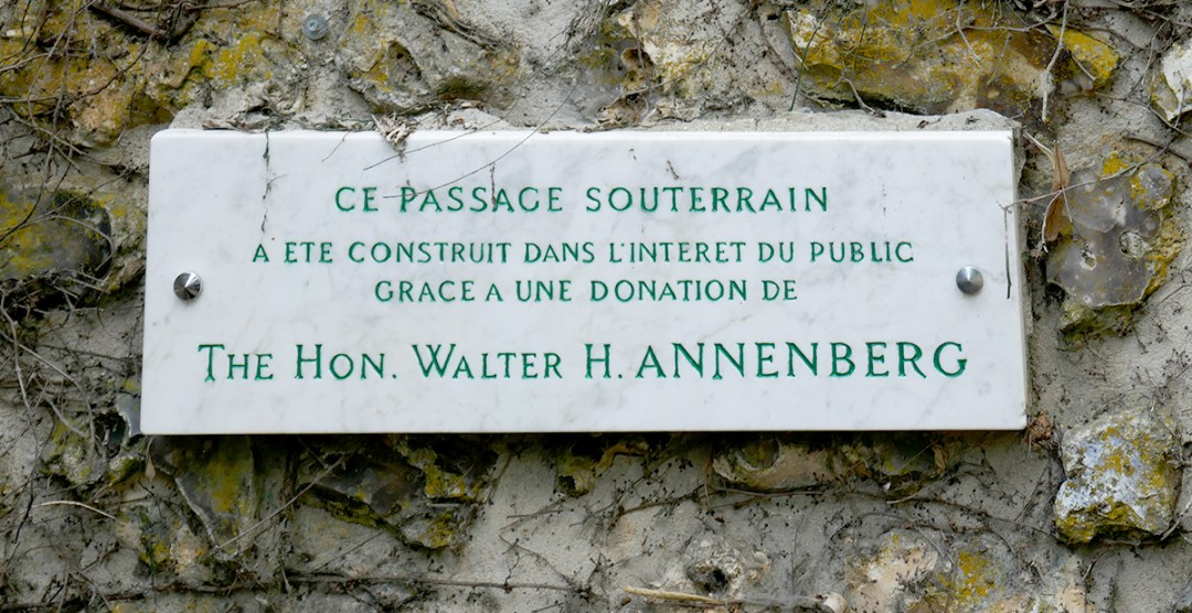 Annenberg Giverny Plaque