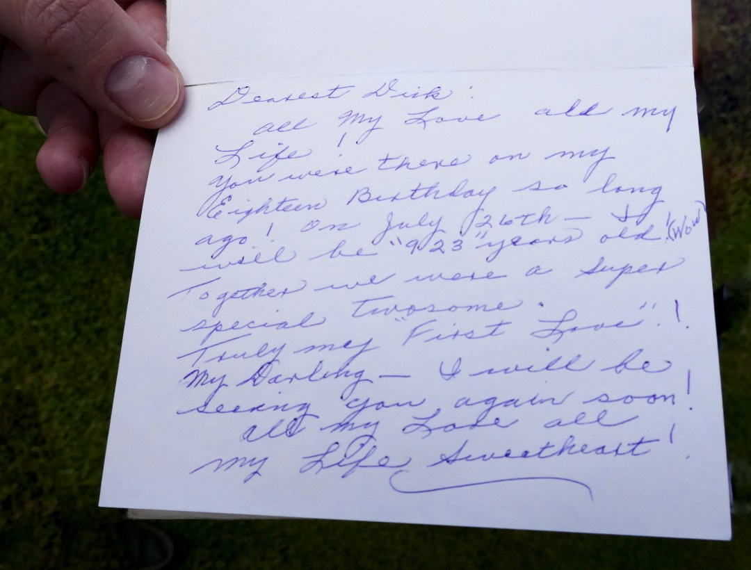 Florence American Cemetary Love Letter